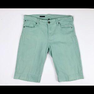 Kut from the Kloth Natalie Bermuda Shorts Green 16